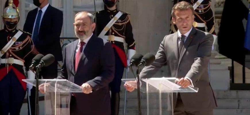 Macron: Azerbaycan Ermenistan topraklarını terk etsin