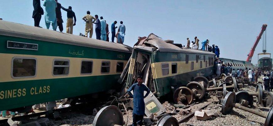 Pakistan'daki tren kazasında ölü sayısı 62'ye yükseldi