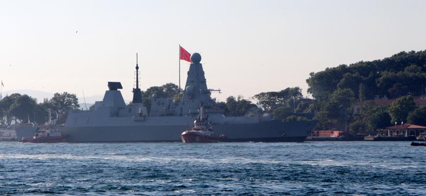 İngiliz savaş gemisi Sarayburnu Limanı'na demirledi