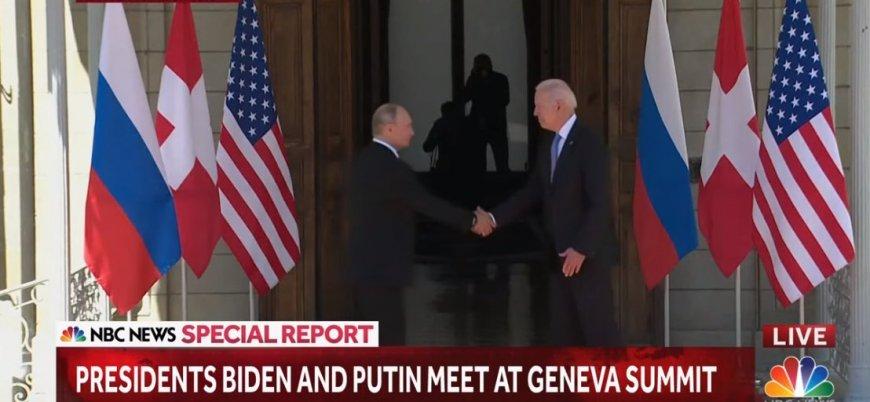 ABD-Rusya zirvesi: Putin ile Biden bir arada