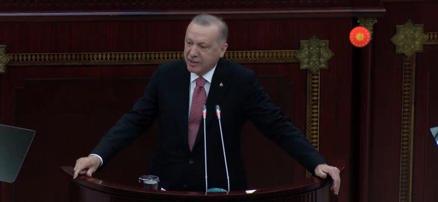 Erdoğan, Azerbaycan Meclisi'nde konuştu: Tüm dünya bilsin ki Azerbaycan'ın yanındayız