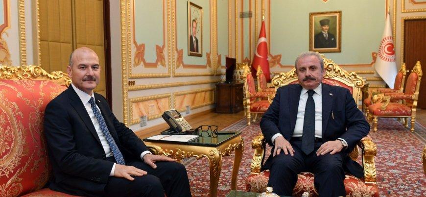Meclis Başkanı Şentop, İçişleri Bakanı Soylu ile görüştü