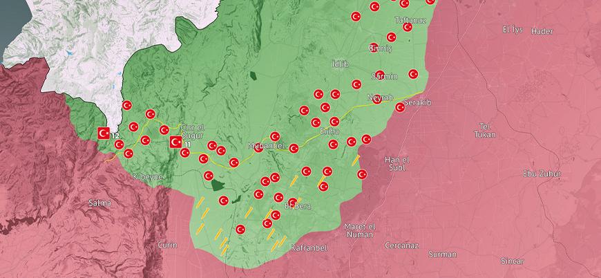 İdlib son durum haritası (Haziran 2021)
