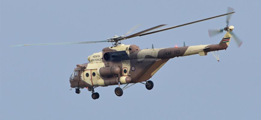 Kenya'da askeri helikopter düştü
