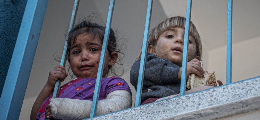 Gazzeli çocuklar İsrail saldırıları nedeniyle travmada