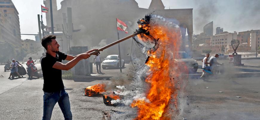 Lübnan'da ekonomik kriz sebebiyle sokağa çıkan halka ordu müdahale etti