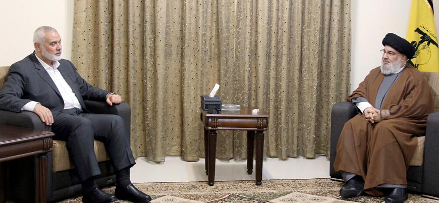 Hamas-Hizbullah görüşmesi: Heniye Nasrallah'ı ziyaret etti
