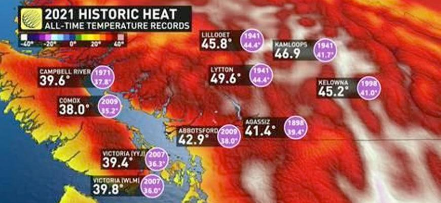 Kanada'daki rekor sıcaklar 70 can aldı