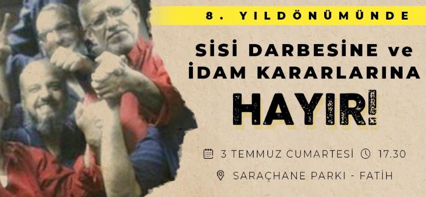 Sisi rejiminin idamları İstanbul'da protesto edilecek