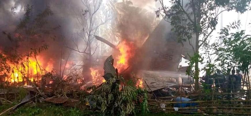 Filipinler'deki askeri uçak kazasında ölü sayısı 50'ye çıktı