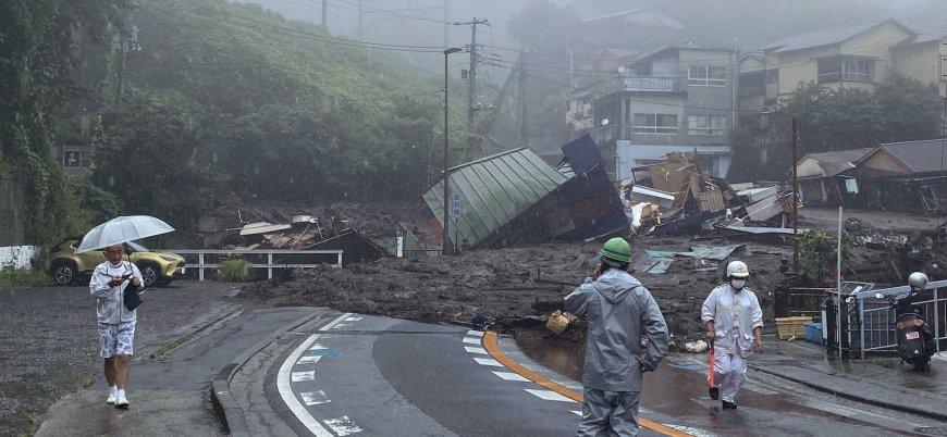Japonya'da heyelan evleri yuttu: 80 ölü