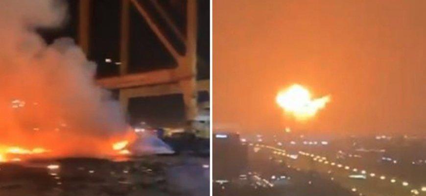 Dubai'de şiddetli patlama
