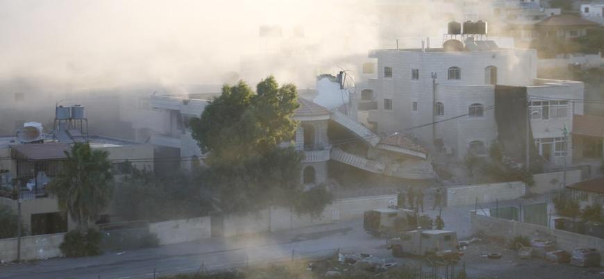 İsrail ordusu Filistinli mahkumun evini havaya uçurdu