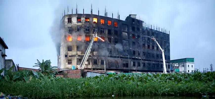 Bangladeş'te fabrika yangınında 52 işçi hayatını kaybetti