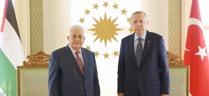Filistin lideri Abbas Cumhurbaşkanı Erdoğan ile görüştü