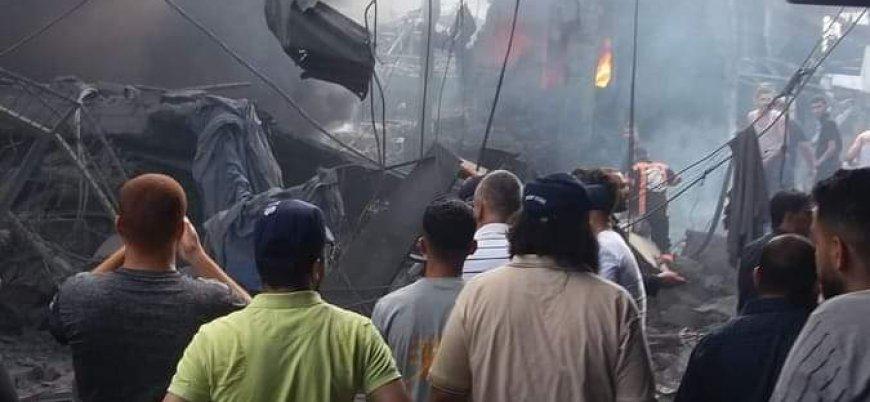 Gazze'de pazar yerinde patlama