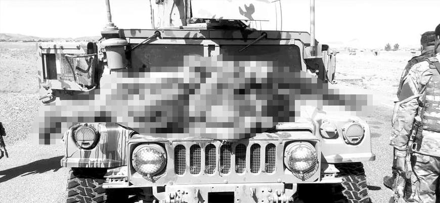 Kabil hükümeti öldürdüğü Taliban üyelerini araçların önüne astı, resmi hesaplardan servis etti