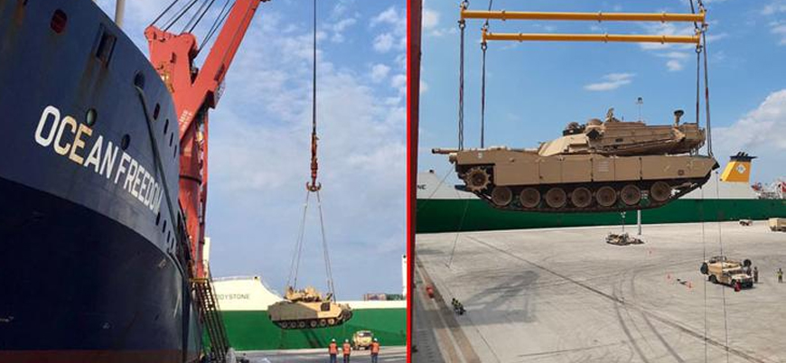 ABD Türkiye sınırına 40 kilometredeki bölgeye tank ve zırhlı araç sevk etti