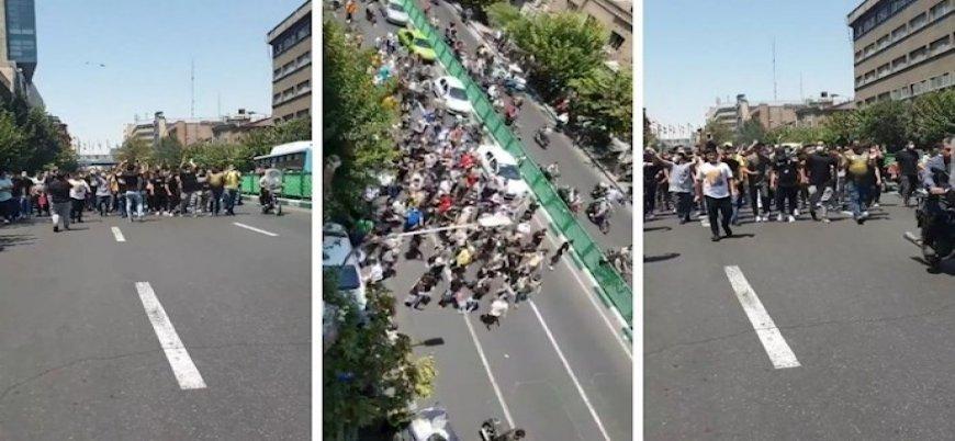 Başkent Tahran'da İran rejimi karşıtı gösteriler