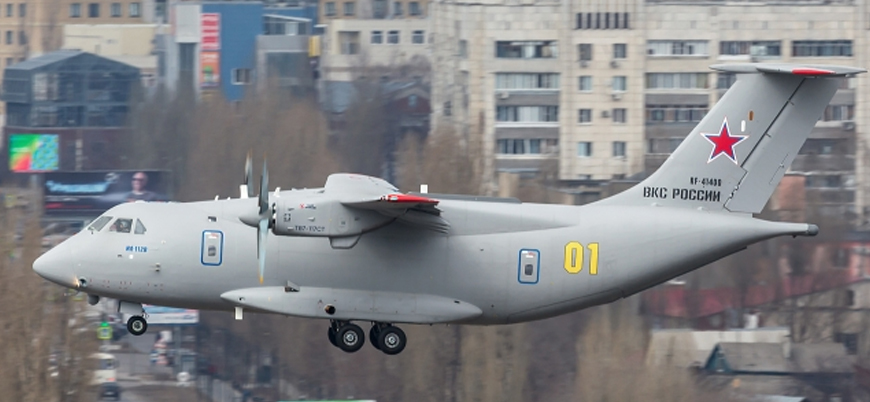 Rus askeri nakliye uçağı Moskova'da düştü