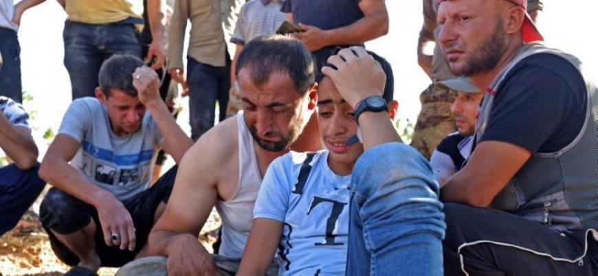 Rusya İdlib'de çocukları bombaladı