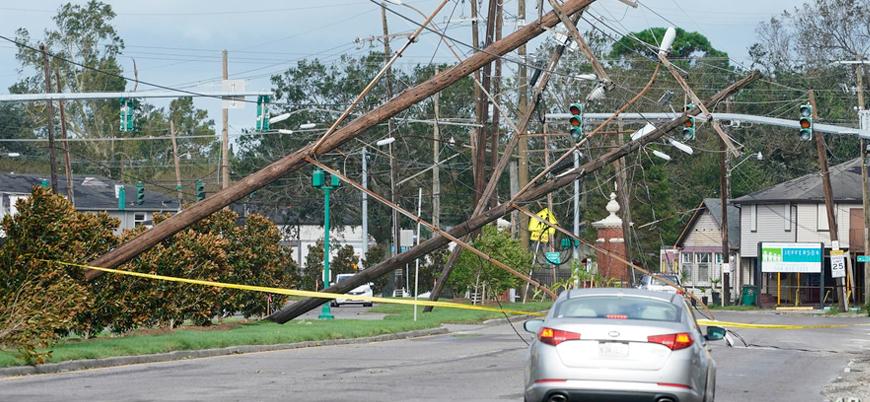 ABD'de Ida Kasırgası nedeniyle 1 milyon kişi elektriksiz kaldı
