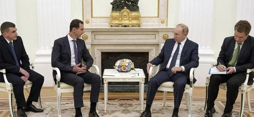 Beşar Esed Moskova'da Putin ile görüştü