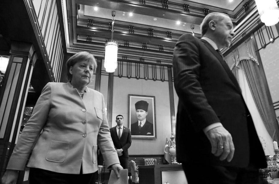 Erdoğan ile Merkel İncirlik krizini masaya yatırdı