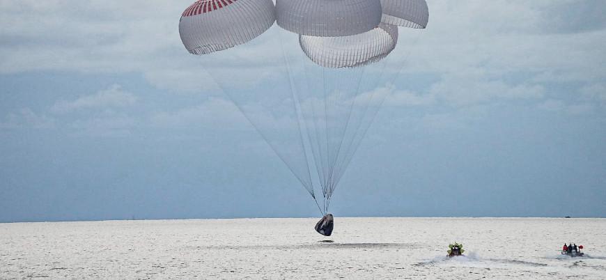 Space X'in uzay turistleri dünyaya döndü