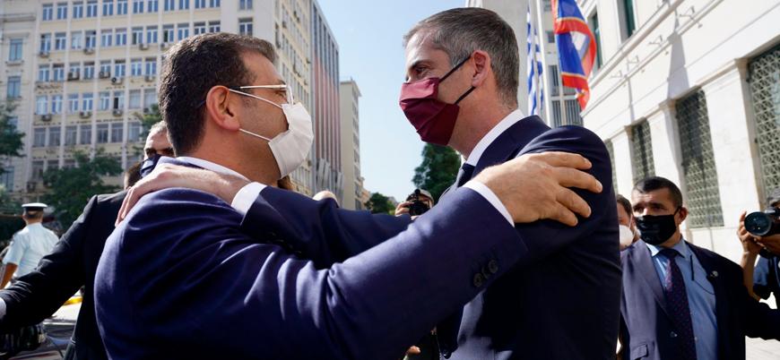 İBB Başkanı Yunanistan'da: Başbakan Miçotakis ile bir araya geldi