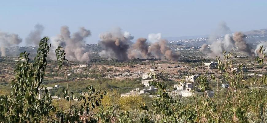 Rusya yeniden İdlib'i bombalamaya başladı