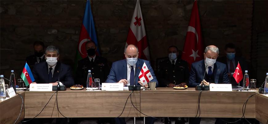 Azerbaycan-Gürcistan-Türkiye Savunma Bakanları arasında üçlü görüşme