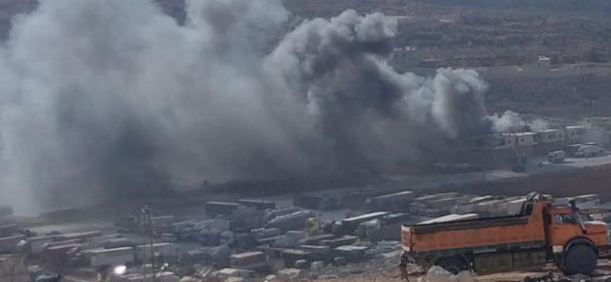 Rusya ve Esed güçleri Türkiye sınırını hedef alıyor