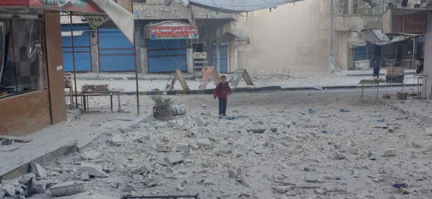 Rusya destekli güçler Suriye'de pazar yerini bombaladı