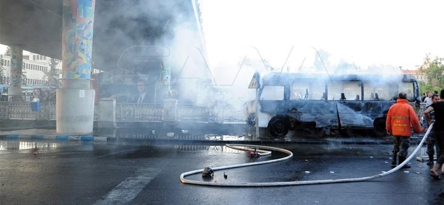 Şam'da askeri otobüse saldırı: 13 ölü