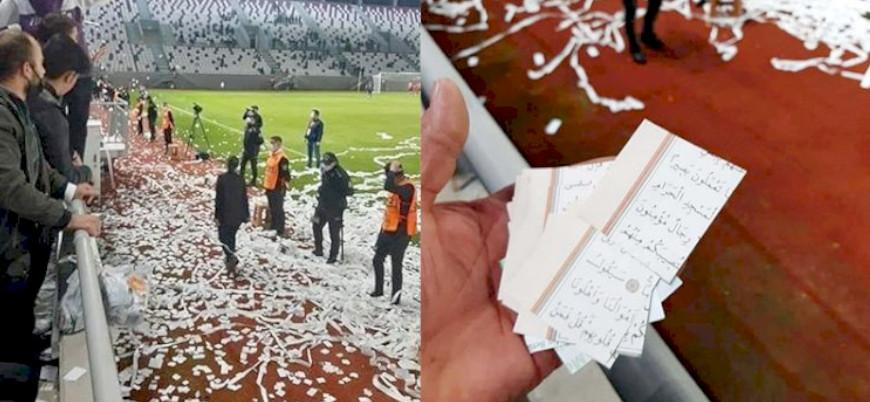 Kur'an ayetlerini konfeti yapan 3 kişi serbest bırakıldı