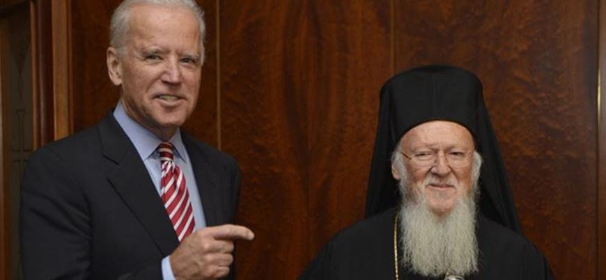 ABD Başkanı Biden Fener Rum Patriği Bartholomeos ile görüştü