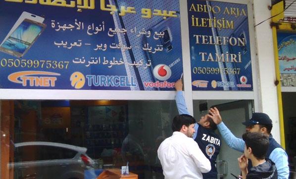 Irkçı uygulama İskenderun'a sıçradı: Arapça tabelalar kaldırılıyor