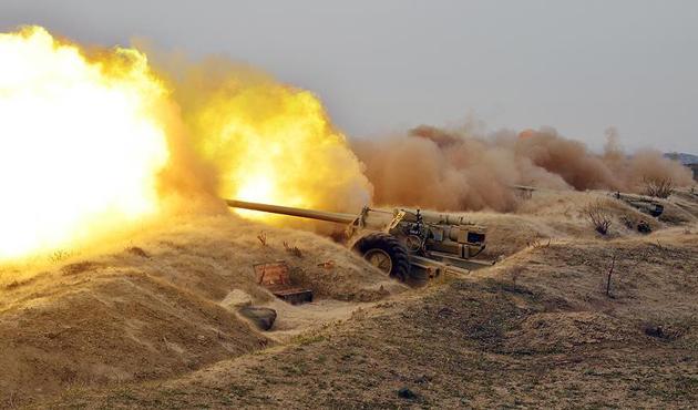 Azerbaycan ordusu Ermenistan'ın askeri hedeflerini vurdu