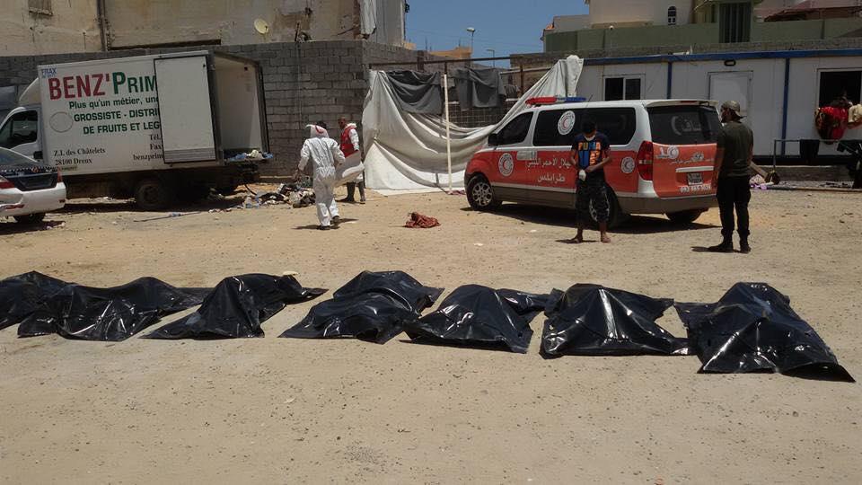 Libya'da bir kamyonda terk edilen mültecilerden 7'si yaşamını yitirdi