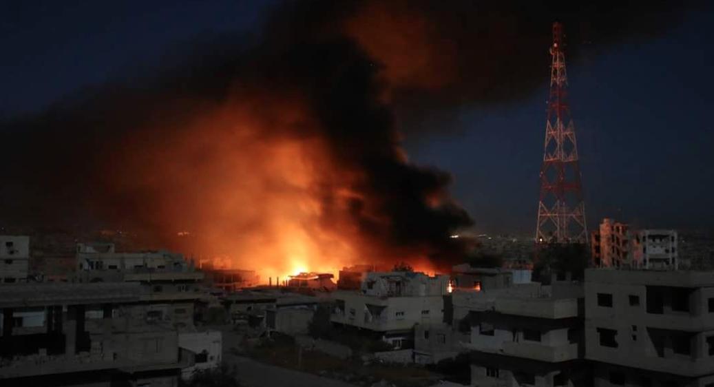 Esed rejimi Dera'yı napalm bombası ile vurdu