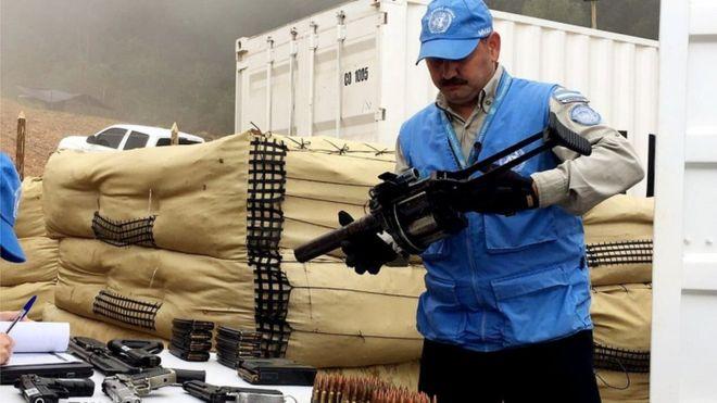 FARC silahlarının üçte birini BM'ye teslim etti