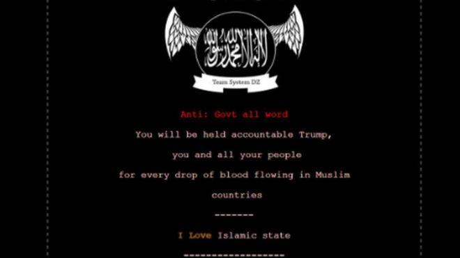 """ABD'de siber saldırı: """"Trump, Müslüman ülkelerde akıtılan kan için hesap verecek"""""""
