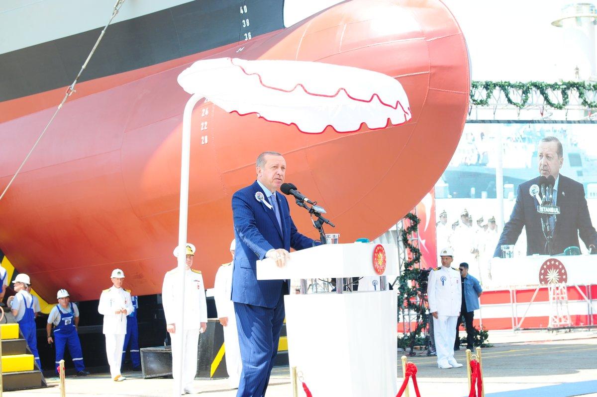 Erdoğan: Uçak gemisi yapacağız, kararlıyız