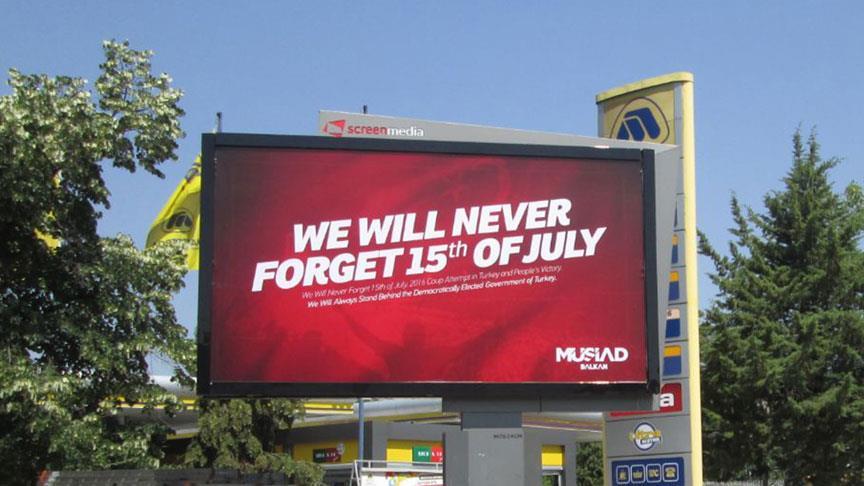 Washington'da 15 Temmuz afişleri yasaklandı