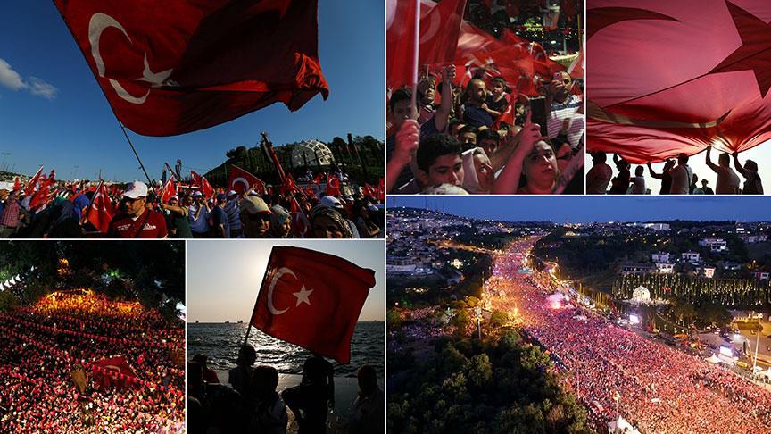 15 Temmuz tüm Türkiye'de 1. yıldönümünde anıldı