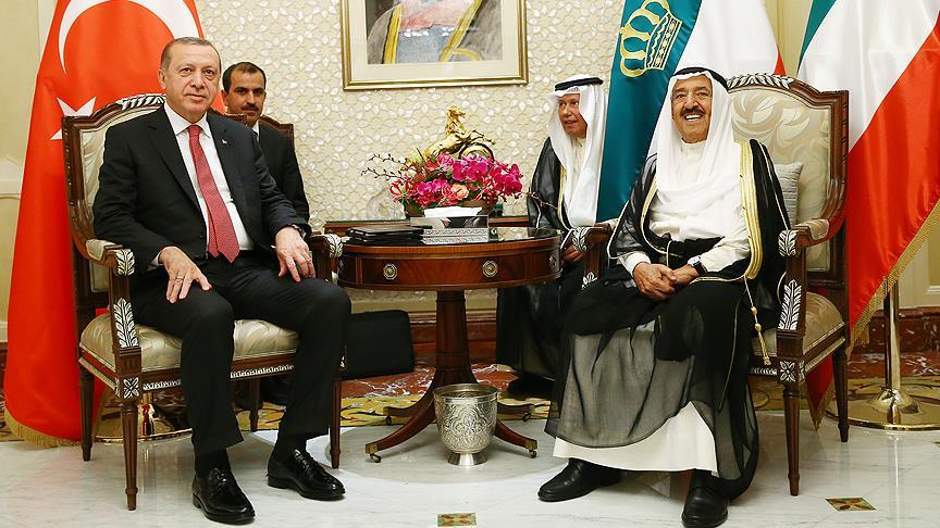 Erdoğan'ın Kuveyt ziyareti başladı