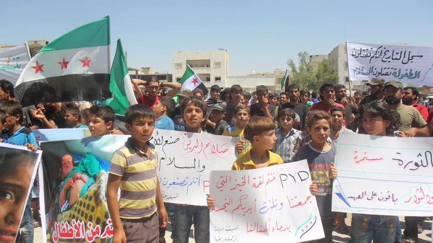 Bab'ta 'PYD'ye karşı operasyon' gösterisi