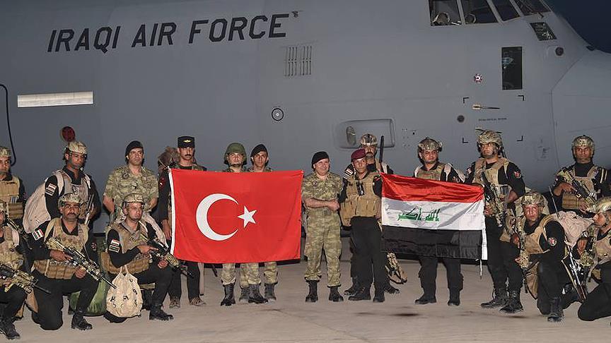 Sınırdaki tatbikata Irak askerleri de katıldı