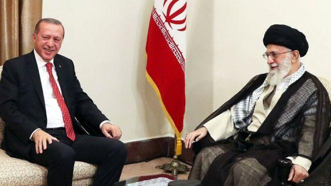 Erdoğan, İran dini lideri ile görüştü: 'Ortadoğu'yu parçalamak istiyorlar'